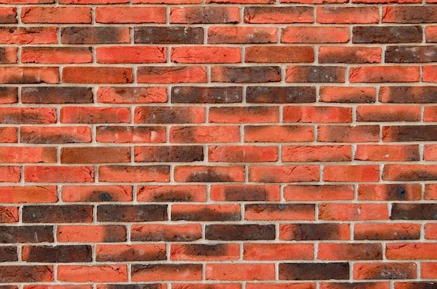 Background of red bricks