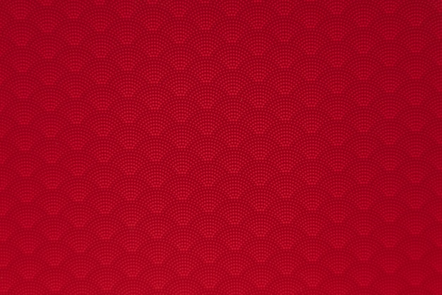 Background of red japanese dotted style wave seamless pattern