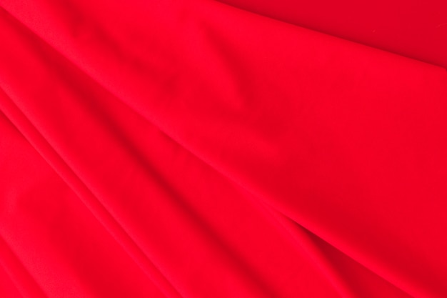 Background of red silk curtain fabric