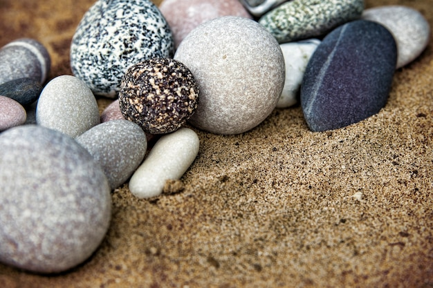 Background rocks and sand close up