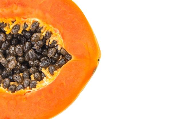 Sfondo fetta di papaya colore giallo