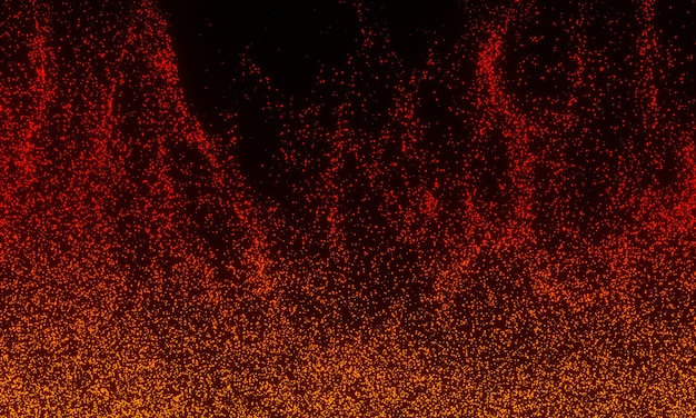 모닥불의 배경 불꽃, 불을 주제로 한 아름다운 추상적 배경