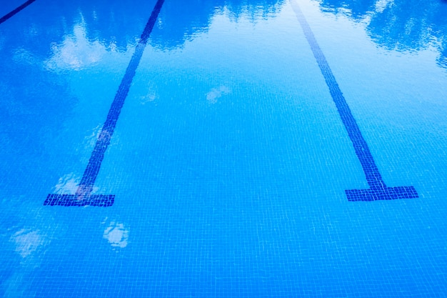 Background of a sports swimming pool