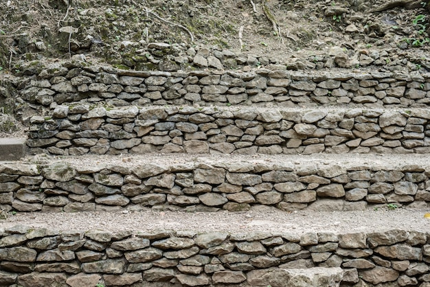Background of stone stairs