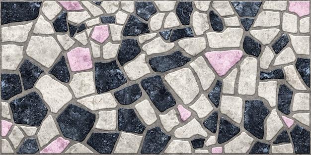 背景の石のテクスチャ。天然石の質感を持つ屋外舗装スラブ。