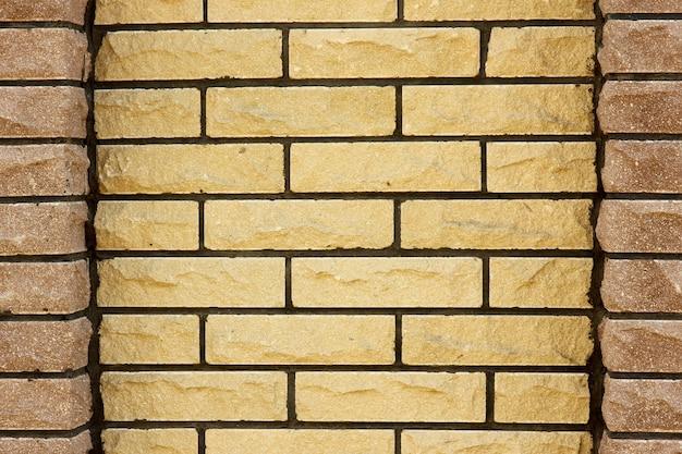 背景石タイル壁柵