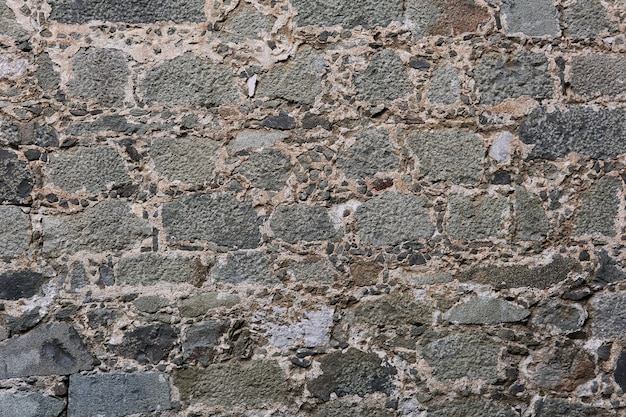 Background, texture - ancient masonry at the wall of medieval palace