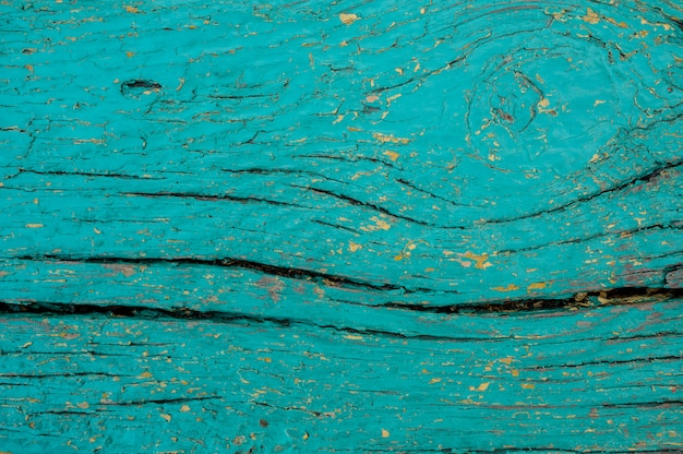 Background texture of the blue painted wooden board