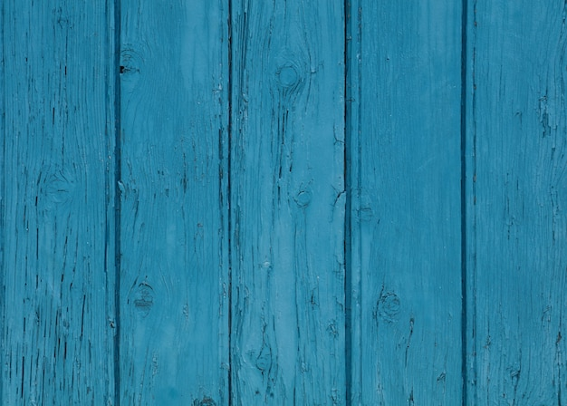 Background texture of blue painted wooden planks