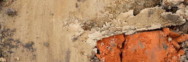 Фоновая текстура из гладкой поверхности песка. вид сверху. знамя