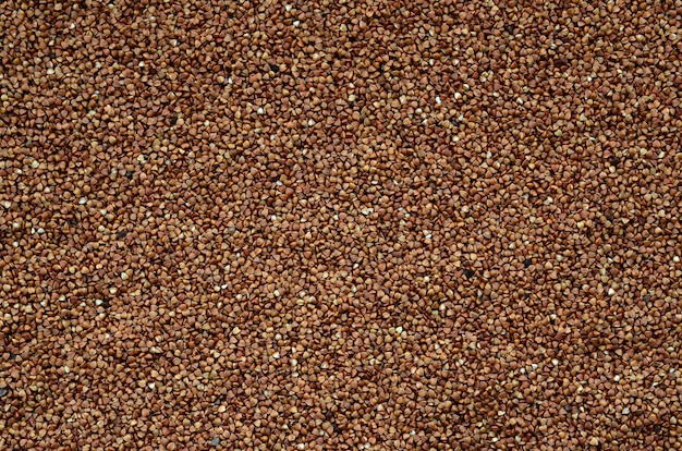 Background texture of a large pile of buckwheat