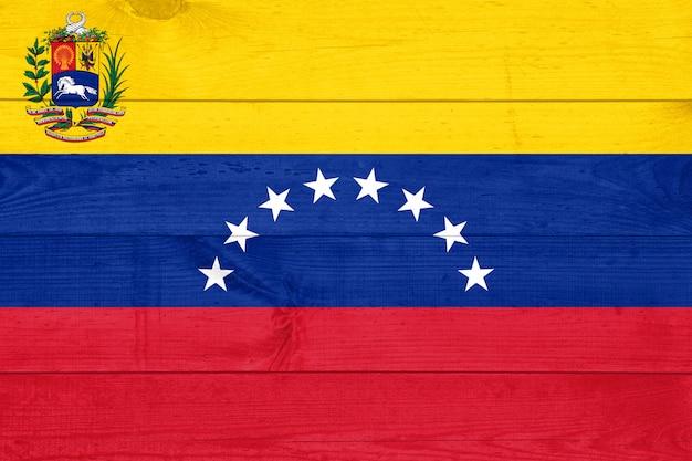 Фоновая текстура досок в виде флага венесуэлы