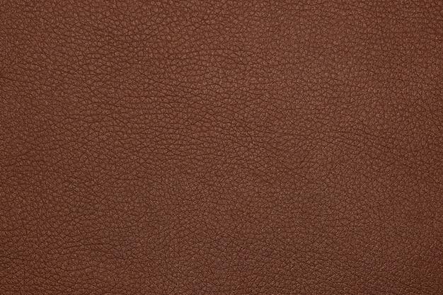 Фоновая текстура коричневого натурального кожаного зерна