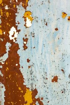 汚れた錆びた金属板の背景テクスチャ