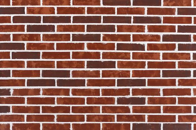 Фоновая текстура старых викторианских кирпичей и строительного раствора. стена из темно-красного кирпича с белым швом.