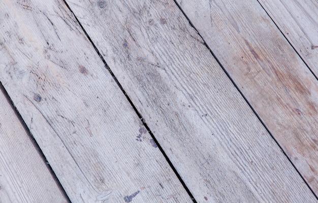古い白い塗られた木の裏地板壁の背景の質感。