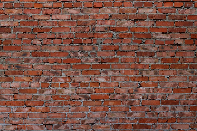 Background or texture of a red brick wall