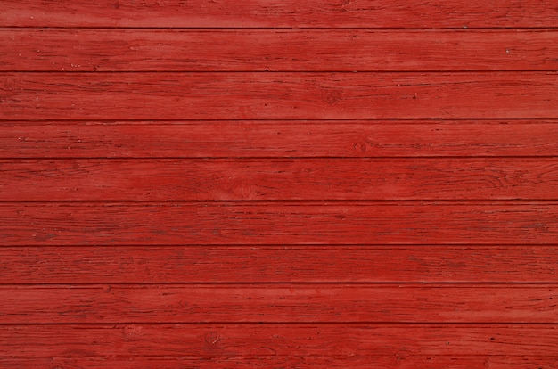 Background texture of red painted wooden planks
