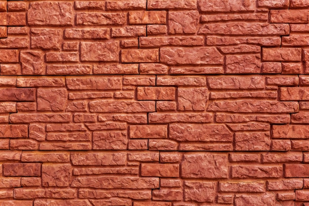 Background texture red, stone brick wall
