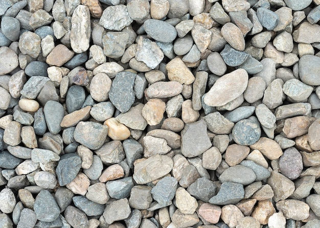 Background, texture rubble and stones background from gray high-strength crushed stone of high resolution small stones in the form of crushed stone close-up