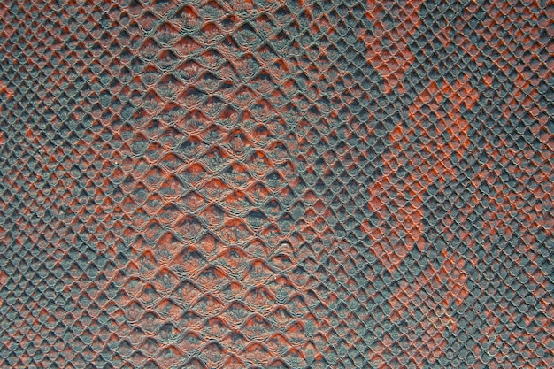 Background texture of snake skin bright red and green