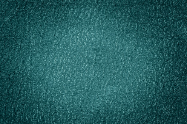 Background texture turquoise natural leather