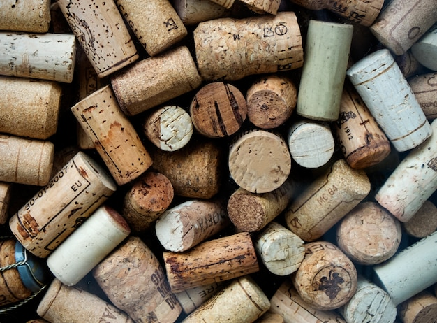 Background of used wine corks