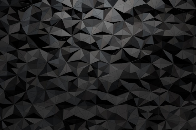 Background of a variety of triangles. 3d render