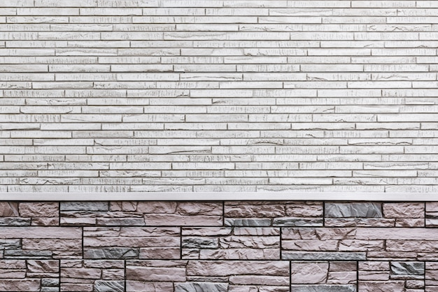 Background wall of a modern house, decorated with tiles