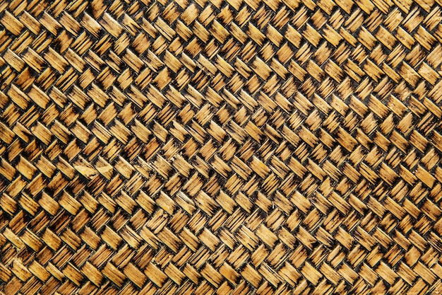 Background and wallpaper of traditional handcraft pattern weave old.