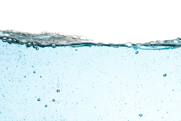 Background of water splash isolated on white background, water wave.