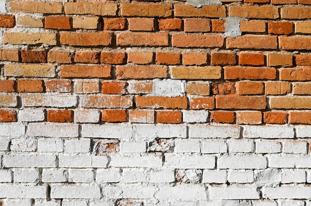 Background of white and brown bricks.