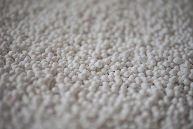 Background of white foam balls
