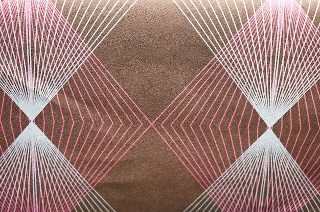 Background of white pink geometric lines.