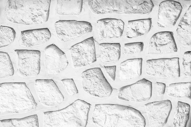 Background of white stone wall texture