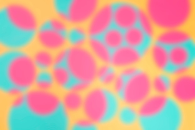 Background with abstract defocused circle design