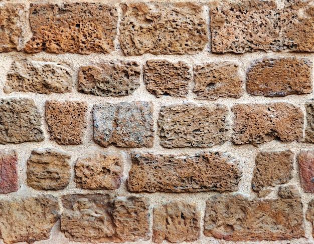 古代のレンガの壁と背景