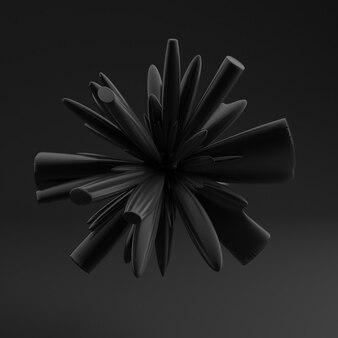 검은 모양, 텍스처와 배경입니다. 3d 그림, 3d 렌더링입니다.