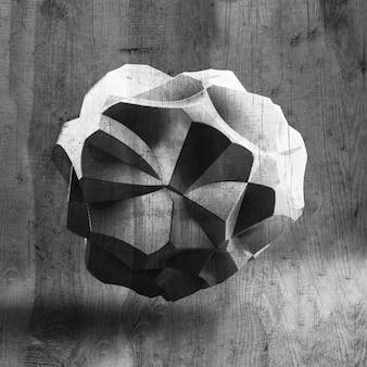 Фон с черной формой, текстурой. 3d иллюстрации, 3d-рендеринг.