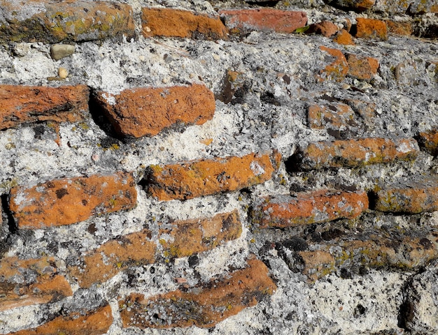 Background with bricks very worn, old
