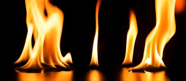 Background with burning liquid