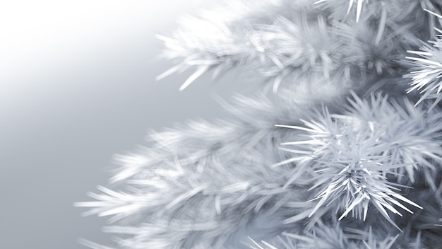 Background with a christmas tree 3d illustration rendering