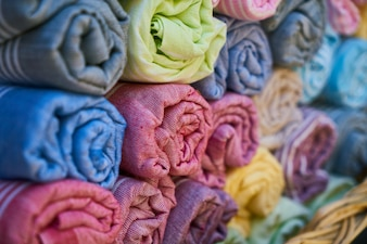 Background with cotton towels