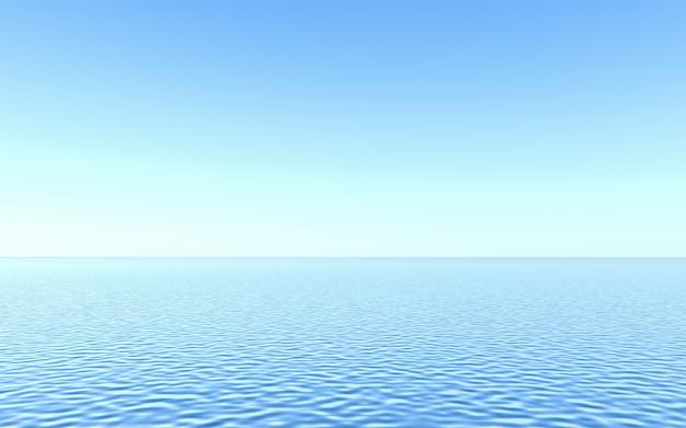 水色の透き通った水の背景。 3dレンダリング