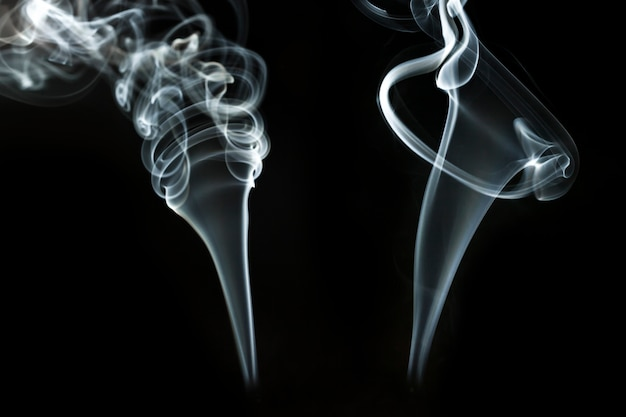 Background with dynamic smoke shapes