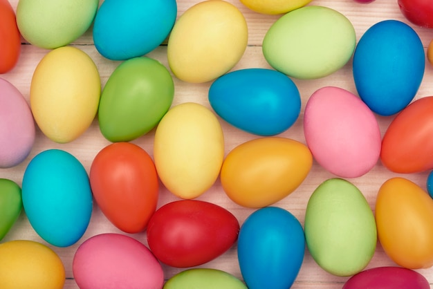 Background with full of easter eggs