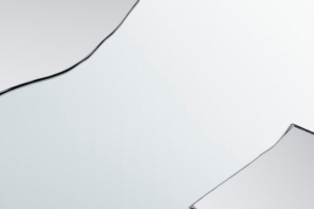 Sfondo con cornice bordo frammento di vetro