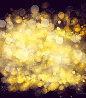 황금빛 광선과 반짝임이 있는 배경