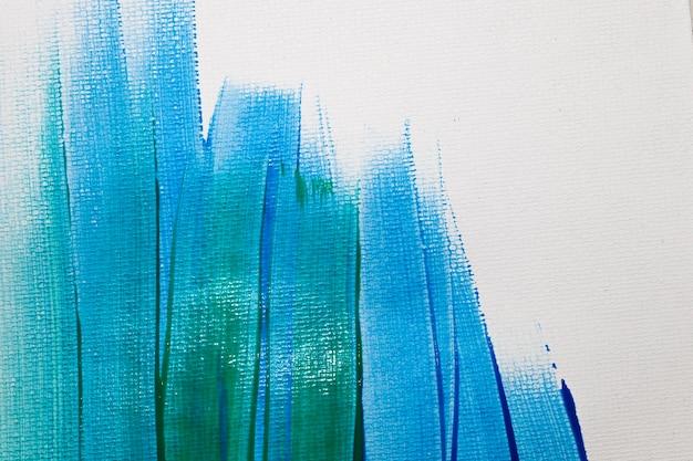 緑と青の筆と背景