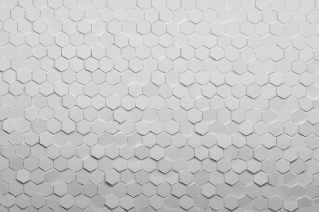 Background with hexagonal pure white tiles.